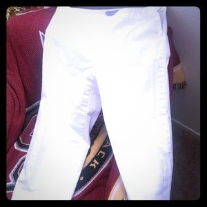 White capri pants